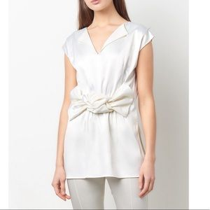 Tops - White Reversible Knot Top